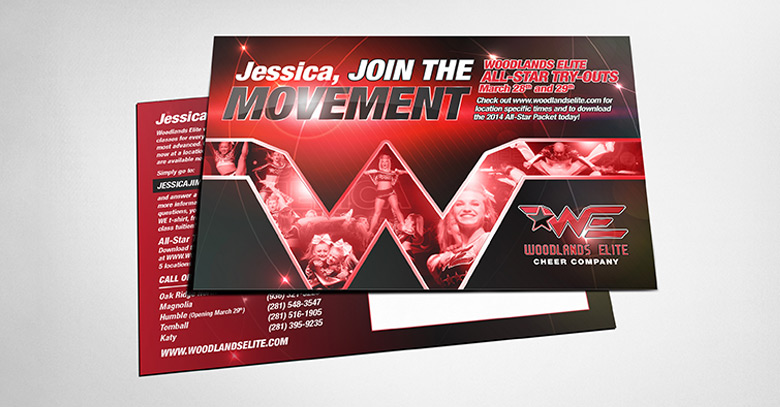 Direct mail customized design printing and fulfillment.