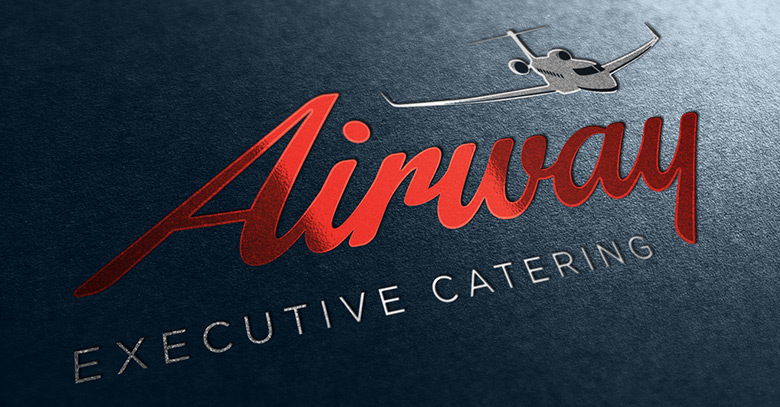 Airline catering industry logo design for Airway executive catering.