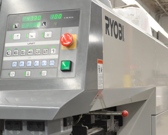 Ryobi offset commercial printer equipment.